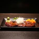 藤沢 肉料理専門店 瑞流 - 鹿の炭火焼き 山葵醤油ソース