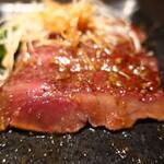 藤沢 肉料理専門店 瑞流 - 鹿の炭火焼き 山葵醤油ソース断面アップ