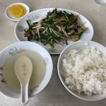 来々亭 - 料理写真:ニラレバ炒め定食 800円税込 ニンニクが効いていて美味し!竹の子も入ってて嬉しい。量も多くい!