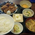 居酒屋 赤頭巾 - 鶏から揚げ定食