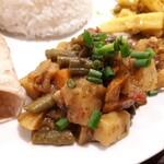 タシデレ - ⚫タルカリ 野菜のマサラ味炒め煮です。単体で食べるよりも、他料理と合わせて食べるのをオススメ