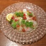 Irupojitano - 三津浜・宇和島より本日の鮮魚のカルパッチョ