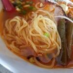 鶏 ソバ カモシ - 麺