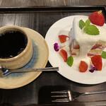 カフェ叶匠寿庵 - 近江のまつりばやしのドリンクセット1320円です