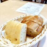 トラットリア ラ・テスタドゥーラ - セットのパン