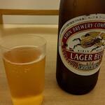 蕎麦屋香月 - ドリンク写真:瓶ビール(キリンラガー中瓶) 600円