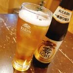 和食ながい - ノンアルビールで