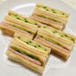 132968018 - ハム・サンドゥイッチ&チーズ・サンドゥイッチ