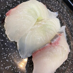 廻鮮寿し丸徳 - 白身三種
