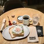 BURG HOLIC - チリビーンエッグトーストモーニング792円