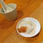 蕎麦ひら井 - 冷かけ薬味