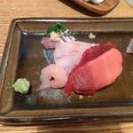 蕎麦ひら井 - お刺身(アップ)