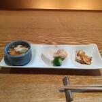 蕎麦ひら井 - 料理写真:酒のつまみ3種