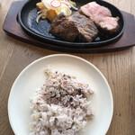 zakintansute-ki - KINTANダブルステーキランチ これにスープ、サラダ、ライス、デザート、ドリンクが付いて2,200円