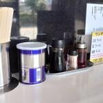 屋台ラーメン - 料理写真:カウンターの卓上