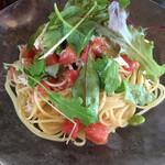 ペスカッペ - 鶏むね肉と枝豆、フレッシュトマトの冷製パスタ