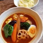エソラ - チキン野菜カリー(ボレロスープ/辛さ4番) 1350円