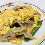 餃子の王将 - ジャストサイズ玉子とキクラゲの炒め物