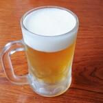 つけ麺さとう - 生ビール550円税込