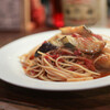 TALBOT - 料理写真:タコとナスとトマトのジェノバ風☆