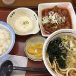山田うどん - 赤パンチ定食セットA  890円