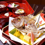 料亭 秀 - 「お食い初め膳」「祝鯛」