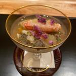 新地 やま本 - 毛蟹、小夏、広島のジュユサイの酢の物