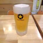 餃子と焼きそば まるき - 生ビール