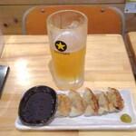 餃子と焼きそば まるき - 生ビール&餃子