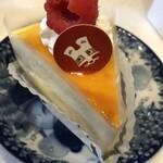 ロア レギューム - フワフワ口どけするスフレチーズケーキ(440円)も美味しい。