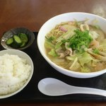 ゆうび庵 - 料理写真:ちゃんぽん500円