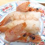 まわる寿司 博多魚がし - 赤海老 ¥390