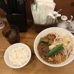 133090872 - スタミナ担々麺(大辛)+サービスライス
