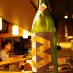 牛かつと和酒バル koda - 清瞭・桂川共同企画 M2 純米吟醸 無濾過生原酒 \650