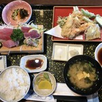 大浜丸 魚力 - 魚力定食 おかず2つ 1,815円