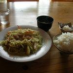 1331092 - パパイヤ炒め定食650円