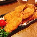 おいしい魚を食べさせる店 魚可津 - アジフライ