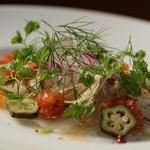 ALBA - 本日鮮魚のカルパッチョ(その日の獲れた新鮮なお魚を使用)自信の一品です♪