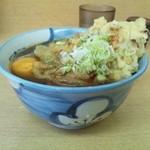 13311414 - 天ぷらそば+卵(380円)(横)