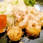 ナンクルナイサきばいやんせー - プリプリエビの博多明太タラコタル 530円
