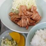 矢車 - 料理写真:生姜焼きライス