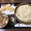 手打ちうどん 袋屋 - 料理写真:豚バラつけ麺 + イカ天 + えび天