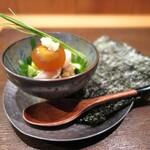根津 焼鳥 照隅 - 夏野菜のバクダン/キンカンは醤油浸け×燻製仕上げ