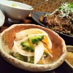 三原豆腐店 - ゴーヤのマリネ 柚子が入って風味がいいです。浅漬けでお野菜がシャキシャキ新鮮です。