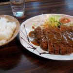 グリル十津川 - 料理写真:牛ロースカツ & ライス