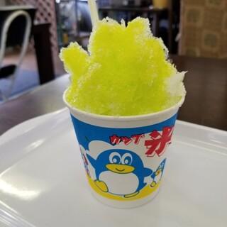 ふるふるトマト - 料理写真:ふわふわかき氷(青りんご) 220円