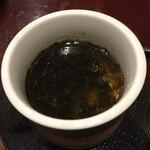 さいたま新都心 風凛 - ●海苔の茶碗蒸し 蛤?