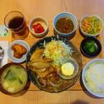 博多もつ鍋はらへった - 【2020年7月14日】『生姜焼き定食』。