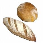 133134403 - 有機小麦ホクシンのミニバゲット(120円)                       もっちりタマゴパン(280円)