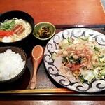 島ぬ風 - ゴーヤチャンプルとミニ沖縄そば定食